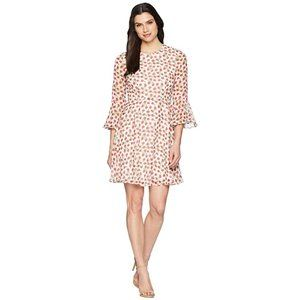 Donna Morgan Fit and Flare Bell Sleeve Dress Sz 4